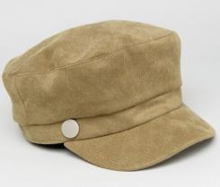 http://www.asos.com/glamorous/glamorous-baker-boy-cap-in-khaki/prd/8192252?clr=khaki&SearchQuery=baker+boy+hat&pgesize=33&pge=0&totalstyles=33&gridsize=3&gridrow=8&gridcolumn=3