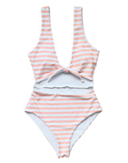 pink and white swimsuit