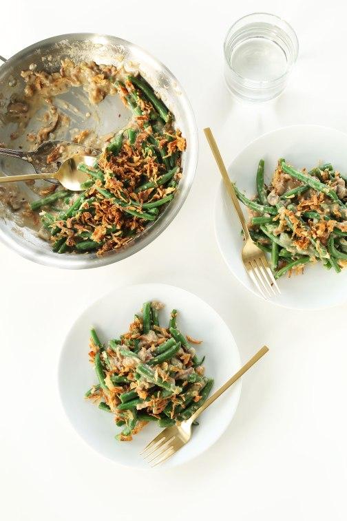 SIMPLE-amazing-Vegan-Green-Bean-Casserole-10-ingredients-30-minutes-SO-delicious-vegan